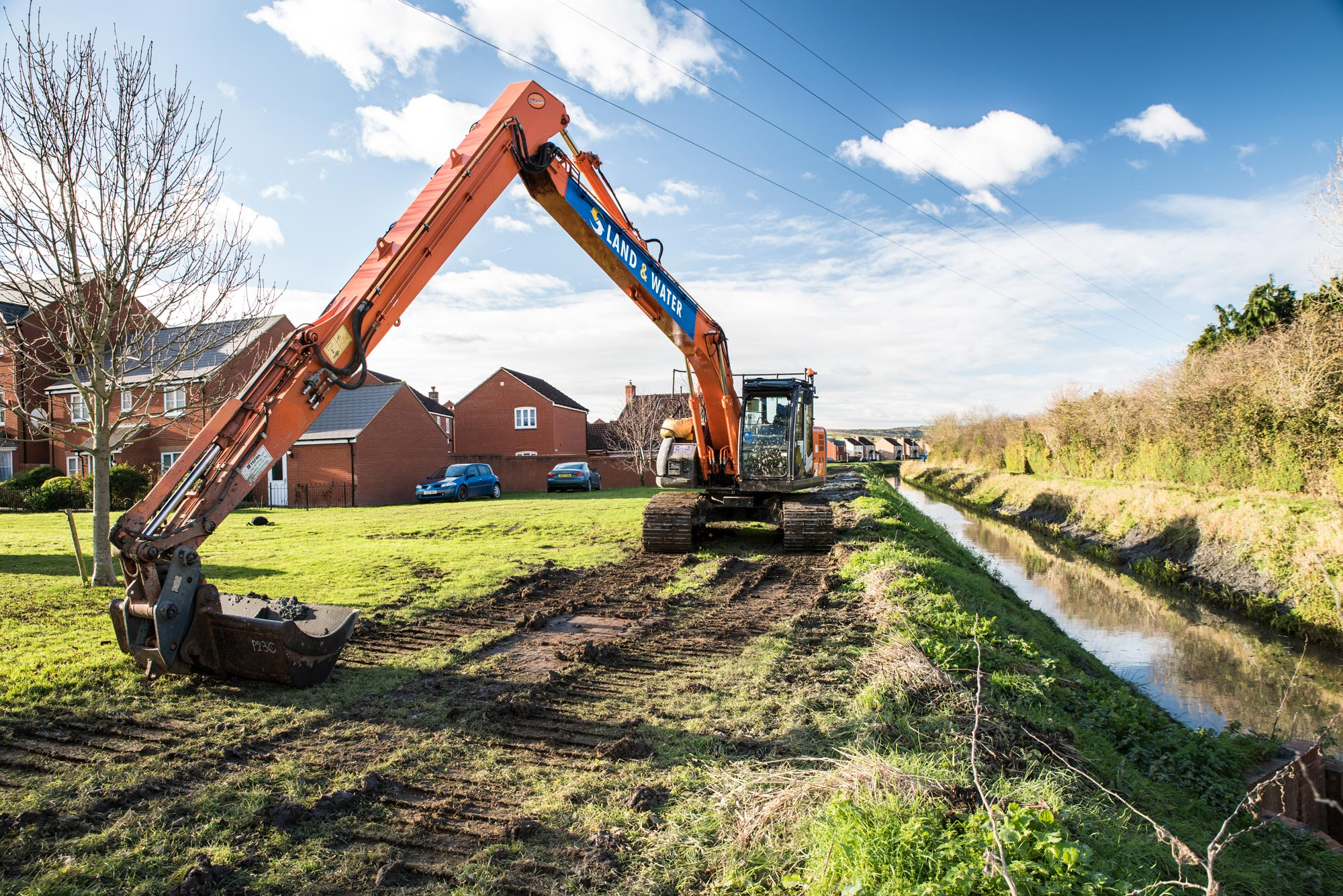 SRA Powers Up Bridgwater Flood Work