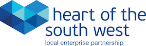 Logo of the Heart of the South West Local Enterprise Partnership.
