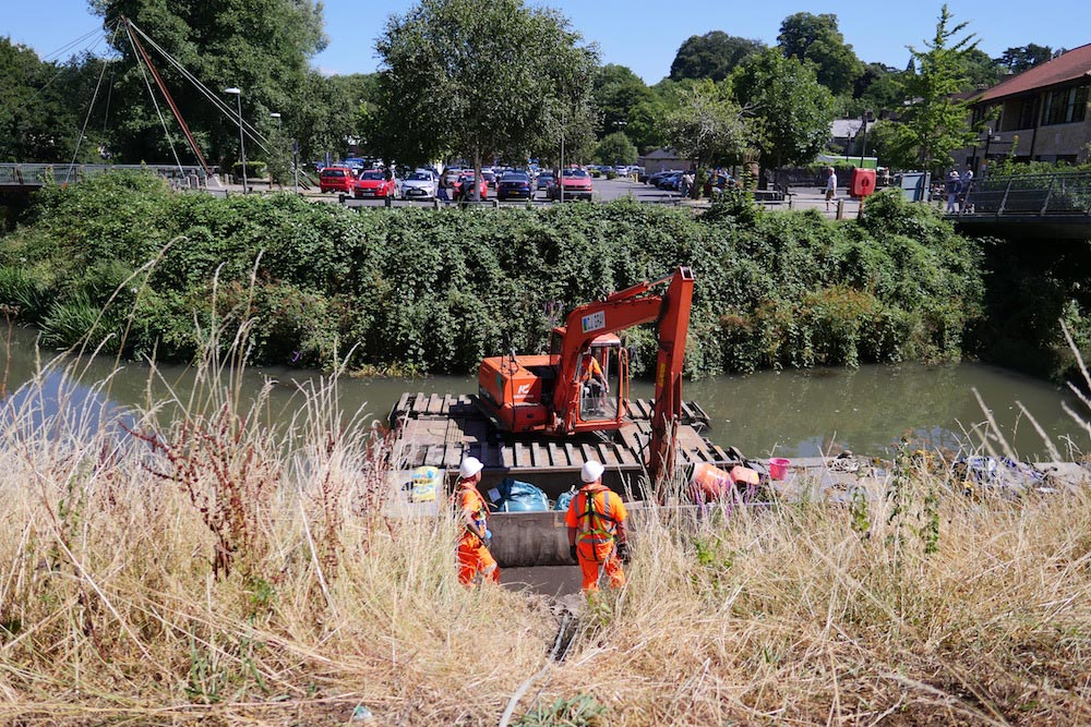 SRA works in Frome will strengthen river banks, lessen flood risks