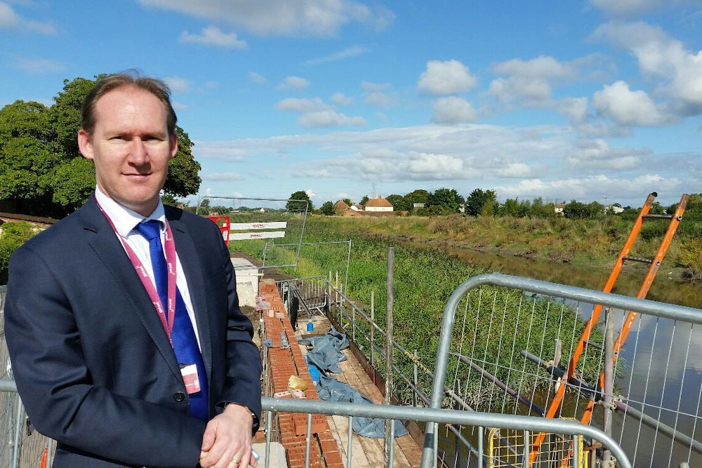 Somerset Rivers Authority Chair Cllr John Osman On A Fact-finding Visit To Northmoor.