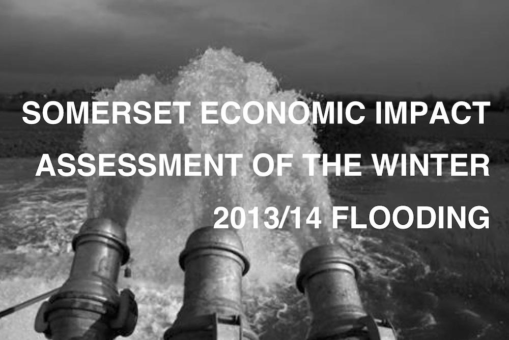 Thumbnail Image From Front Page Of Full Economic Impact Assessment Report Into Somerset Flooding 2013-14.