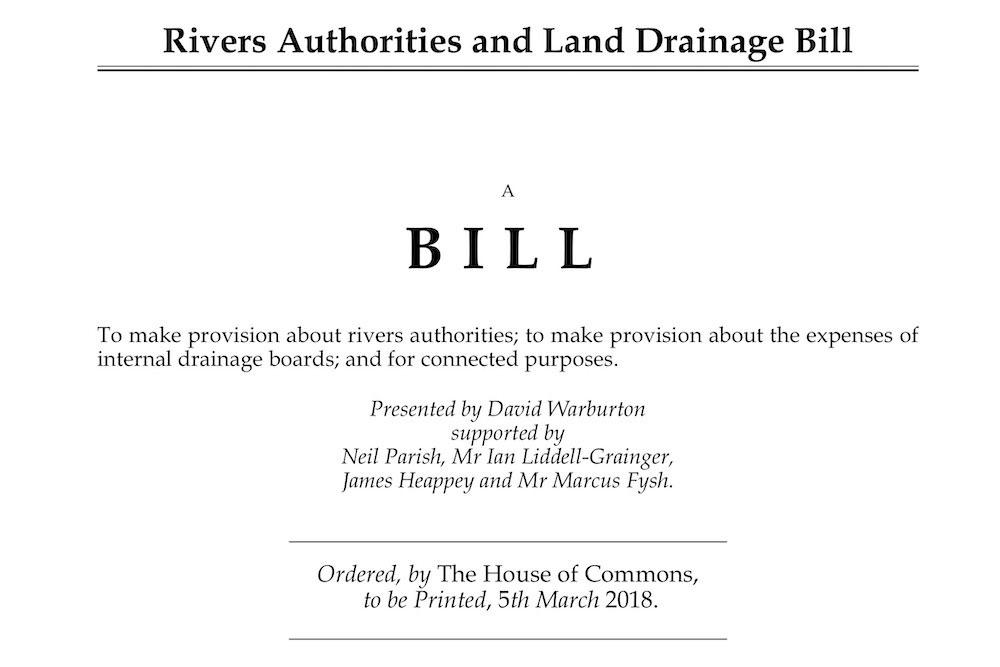 David Warburton MP introduces Rivers Authorities Bill to Parliament
